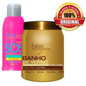 Forever Liss Banho De Verniz 1kg + Sos Antiemborrachamento