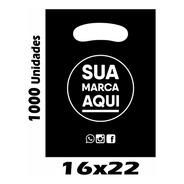 Sacolas Plásticas Personalizadas 16x22 1000 Un Promoção