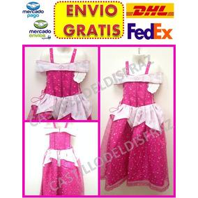 Disfraz Vestido Aurora Bella Durmiente Princesa Envio Gratis