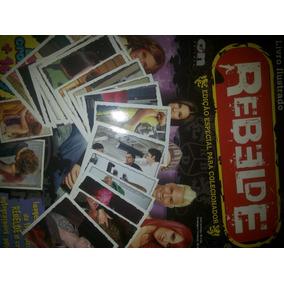 Álbum Rebelde Ed. On Line Vazio + 32 Figuras Para Colar