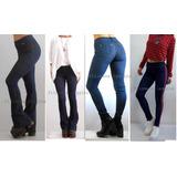 Calza Jeans, Oxford-chupín/rectas Pantalón Azul/negra/franja