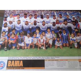 Poster Bahia Campeão Baiano 2001 Placar 21 X 27 Cm