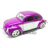 Carro Miniatura Fusca 1:32 - Roxo Branco Roda Esportiva