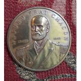 Antigua Medalla De Bronce Arturo Prat Colección