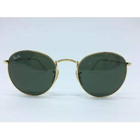 Ray Ban Round Metal Rb3447 50 Dourado g15 001 50 - Óculos De Sol Ray ... 21f80dd3b5