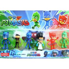 Set 6 Pjmasks Juguetes Muñecos Figuras Pj Mask Heroes Pijama