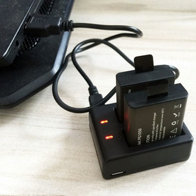 Carregador Duplo +baterias+,original Filmadora Eken H9 Sjcam
