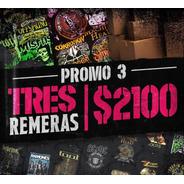 Promo Remeras Nro.2   /   3 Remeras X $ 2100