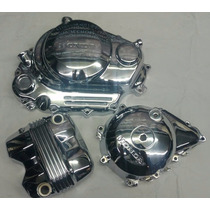 Kit Tampas Do Motor Cg 150cc Cromada