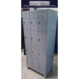 Lockers Metal 12 Puertas Unicos 52cm Prof Envio Gratis 72hs