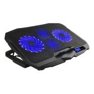 Base Cooler Gamer P/ Notebook Warrior Ingvar Led Azul Ac332