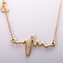 Set Dije+aretes+cadena Electrocardiograma Medico +envio