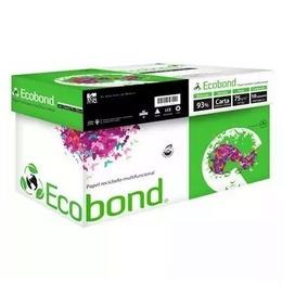 Caja 5000 Hojas Eco Bond Bio Papel Tamaño Carta 93% Blanco