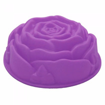 Forma Em Silicone Rosa Flor Bolo Pudim Gelatina Manjar Pão