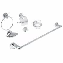 Juego De 6 Accesorios Metalicos Zamak Para Baño Foset