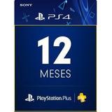 Playstation Psn Plus 12 Meses Ps3 Ps4 Jogue Online