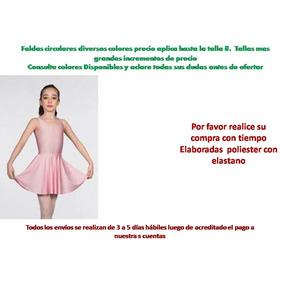 Faldas Ballet Danzas Teatro Leotardos Mallas