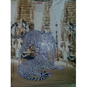 Blusa Plus Size Estampa Felino Com Brilho Linda
