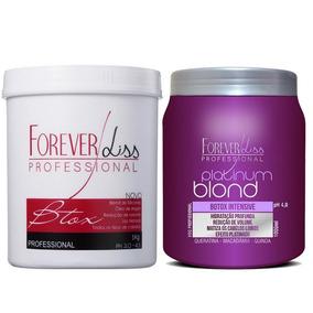 Forever Liss Botox Platinum Blond 1kg + Botox Argan Oil 1kg