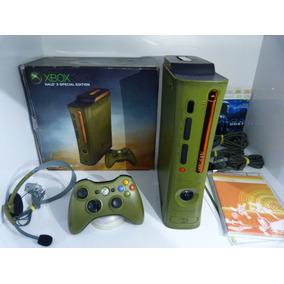 Xbox 360 Edição Limitada Halo 3 Completo Na Caixa