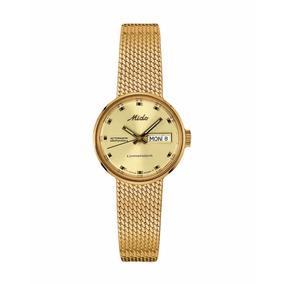 Reloj Mido Commander 1 P/dama Dorado M7169.3.72.13