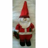 Boneco Papai Noel Com Guirlanda Na Mão 40cm