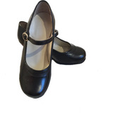 Zapatos De Flamenco 100% Cuero. Recomendado Talla 27 A 40