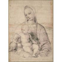 Lienzo Tela Madonna De La Granada Arte Sacro Rafael 1504