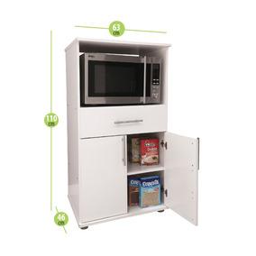Mueble Porta Microondas Y Grill 1 Cajon Cocina Organizador