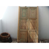 Antigua Puerta Con Ventanas De Madera Años 30