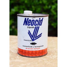 Retro Antigua Lata Insecticida Neocid 500cc Llena Ciba Geigy