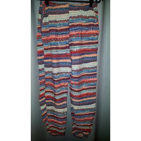 Pantalon Tipo Babucha De Tela Estampado