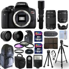 Canon T6i 750d Slr Camara + 5 Lente Kit: 18-55mm Stm + 75-30