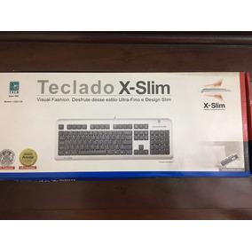 Teclado Slim A4tech Ps/2 Prata / Preto