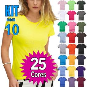 ... Masculina Blusas Baratas Atacado Revenda · Kit 10 Camisetas Baby Look  Malha Fria ( Pv ) Camisa Atacado a44e89294f5