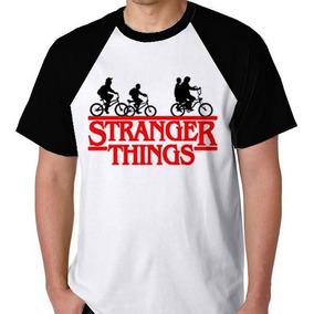 Camisa Camiseta Raglan Stranger Things Blusa Série S/frete