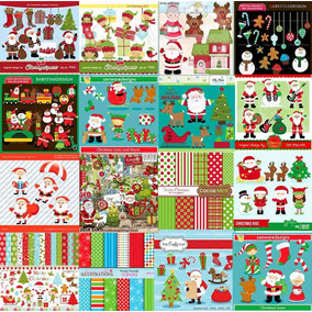 161 Kits Scrapbook Digital Natal. Envio Grátis Por E-mail.