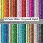 Kit 50 Papel Digital Glitter - Scrapbook Digital + Brinde