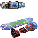 Skate Infantil + Kit De Proteção Completo Criança Presente