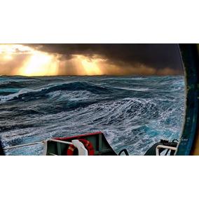 Atardecer En Tormenta Marina. Cuadro Fotográfico 50x70 Cm