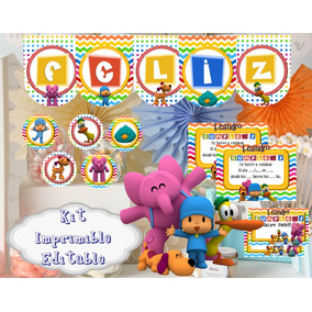 Kit Imprimible Pocoyo Editable Candy Bar Golosinas Completo!