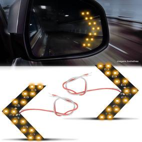 Par Lâmpada 14 Leds 1 Polo Espelho Retrovisor Pisca Seta Luz