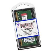 Memoria Ram Kingston Portátil 4 Gb Ddr4 2400 Mhz