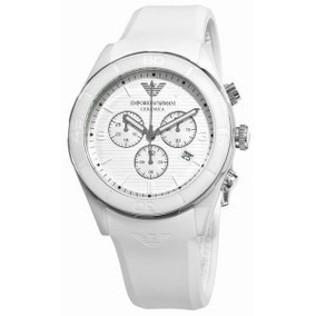 e921a380007 Maravilhoso Relógio Original Emporio Armani Branco Ar5947 - Relógios ...