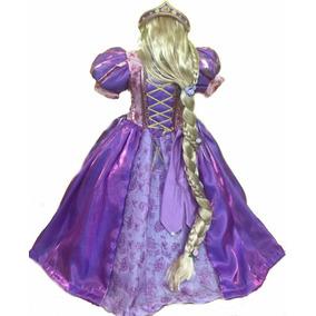 Vestido Rapunzel Con Corona Y Peluca Envio Gratis