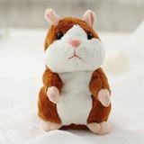 Pelucia Hamster Repete Tudo Que Escuta-tam.15cm Com 3 Pilhas