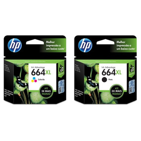 Kit Cartucho Hp 664xl Original F6v30ab Color | F6v31ab Black