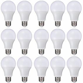Lâmpada Super Led Branca 9w E27 Bivolt 90% Economia - 15 Pçs