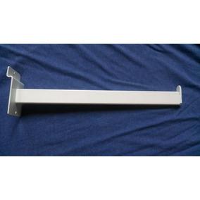 Ménsulas De Perfil Tubular De 30cm Para Panel Ranurado