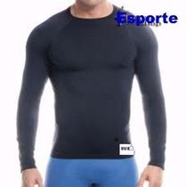 Camisa Térmica Masculina E Feminina Manga Longa Micro Fibra